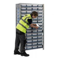Boltless Shelving with 56 CTB containers