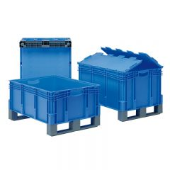 Euro Containers with Fork Entry Shoes