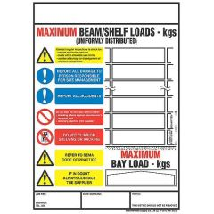 Shelving and Racking Bay Safety Sign