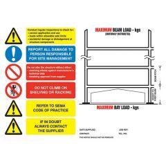Landscape Pallet Racking Safety Sign