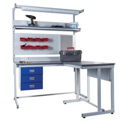 Cantilever Workbenches - with Accessories & Extension Bench