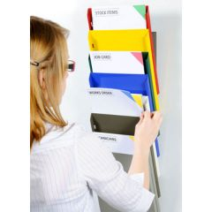 CASCADING DISPLAY DOCUMENT RACKS - A4 DOCUMENTS (MIXED COLOURS)