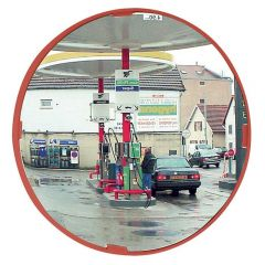 Circular Red Mirror