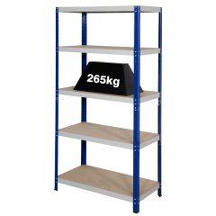 Clicka 265 Blue Grey Shelving - Angled