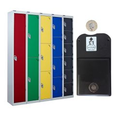 QMP Coin Operated Lockers - Coin Retain