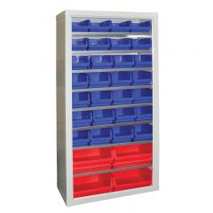 Armour Container Cupboard with 32 mixed bins