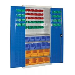 Armour Container Cupboard with 59 mixed bins
