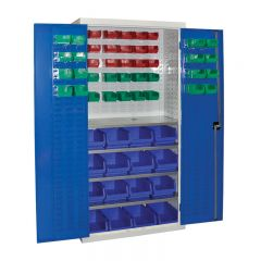 Armour Container Cupboard with 57 mixed bins