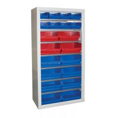 Armour Container Cupboard with 30 mixed bins