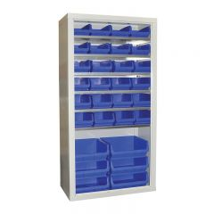 Armour Container Cupboard with 20 mixed bins