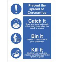 Coronavirus Sign - Catch it Kill It