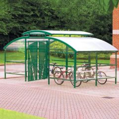 Cycle Compound with Lockable Gate & Central Security Canopy