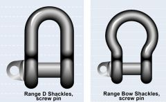 SAMSON Quality Range Bow Shackles, Screw Pin