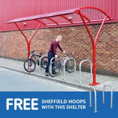 Dalton Cycle Shelter with free hoops