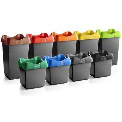 Open Top Recycling Bin - Dark Grey - 30 / 50 Litre
