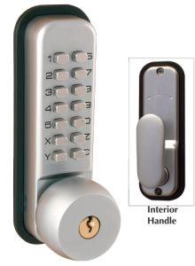 Chrome Digital Door Lock - Key Override