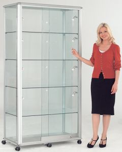 Display & Trophy Cabinets - Wide Tower