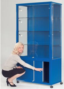 Display & Trophy Cabinets - Wide Tower with Cupboard