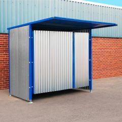 Double Gate Galvanised Panel Drum Storage Shelter
