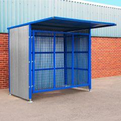 Single Gate Mesh Infill Drum Storage Shelter