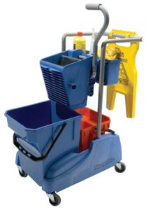 Dual Bucket Mopping Trolleys