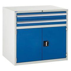 900 Euroslide Cabinet - 2 Drawer & Double Cupboard