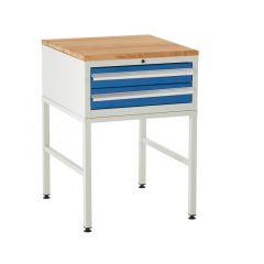 600 Euroslide Cabinets on Stands - 2 Drawers.