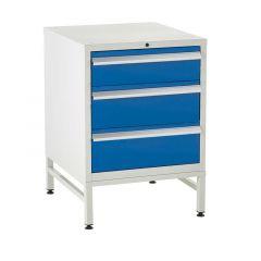 600 Euroslide Cabinets on Stands - 3 Drawers.