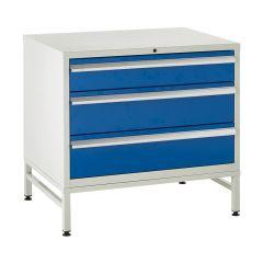 900 Euroslide Cabinets on Stands - 3 Drawers.