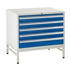900 Euroslide Cabinets on Stands - 5 Drawers