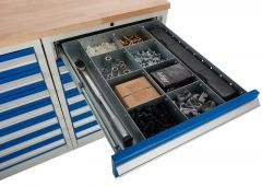 40540382: 600 Cabinet Drawer Divider inserts for use with all Euroslide Drawers.