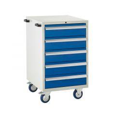 600 Euroslide Mobile Cabinets - 5 Drawers.