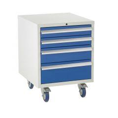 Under Bench Euroslide Cabinet - 4 Drawer, 2x 100mm drawer.