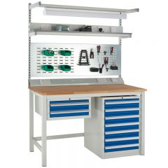 Our Euroslide workbench has many configurations available in the form of accessories (Sold separately).