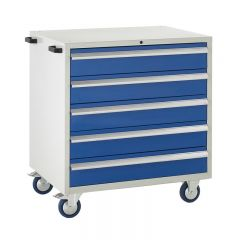900 Euroslide Mobile Cabinets - 5 Drawers