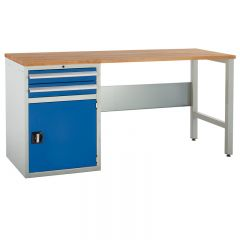 Euroslide Pedestal Bench - 1 Cupboard & 1 Drawer