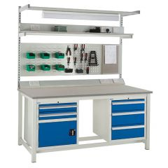 Euroslide Laminate Worktop Super Workbenches - 1200kg