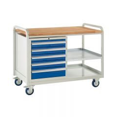 Euroslide Trolley with 5 drawers and 2 Shelves.