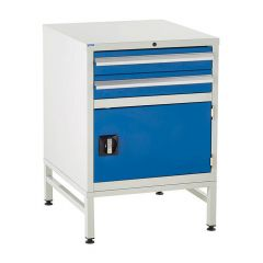 600 Euroslide Cabinet on Stand - 2 Drawers & Cupboard