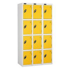 Probe Four Door - Nest of 3 - White Carcass - Yellow Door
