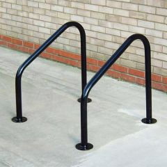 Black Galvanised Frankton Cycle Stands - Flanged
