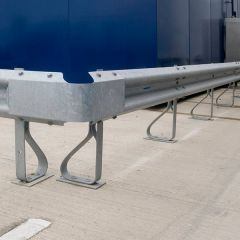Spring steel buffer posts