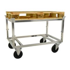 Heavy Duty Galvanised Pallet Dollies - Height Adjustable