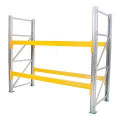 Galvanised Pallet Racking - 2 x Frames + 2 x Beams
