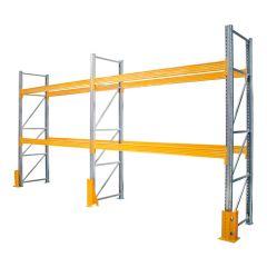 Galvanised Pallet Racking - 3 x Frames + 4 x Beams + Protectors