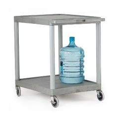 Large Plastic Shelf Trolley - 2 shelves