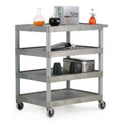 Plastic 4 Shelf Trolley - 150kg