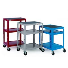 Adjustable Height Trolley 3 Shelves