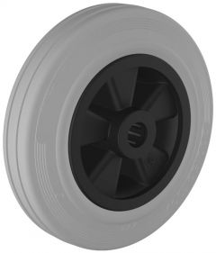 Grey Rubber Tyre with Plastic Centre