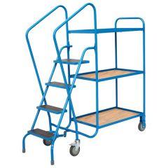 GS Order Picking Trolley - 4 Steps & 3 Shelves